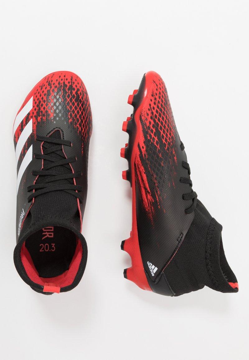 adidas Performance - PREDATOR 20.3 MG - Voetbalschoenen met kunststof noppen - core black/footwear white/core black