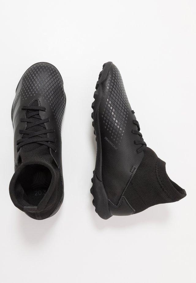 PREDATOR 20.3 TF - Fodboldstøvler m/ multi knobber - core black/dough solid grey