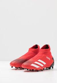 adidas Performance - PREDATOR 20.3 LL FG - Voetbalschoenen met kunststof noppen - active red/footwear white/core black - 3