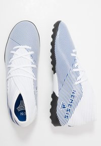 adidas Performance - NEMEZIZ 19.3 TF J - Korki Turfy - footwear white/royal blue - 0