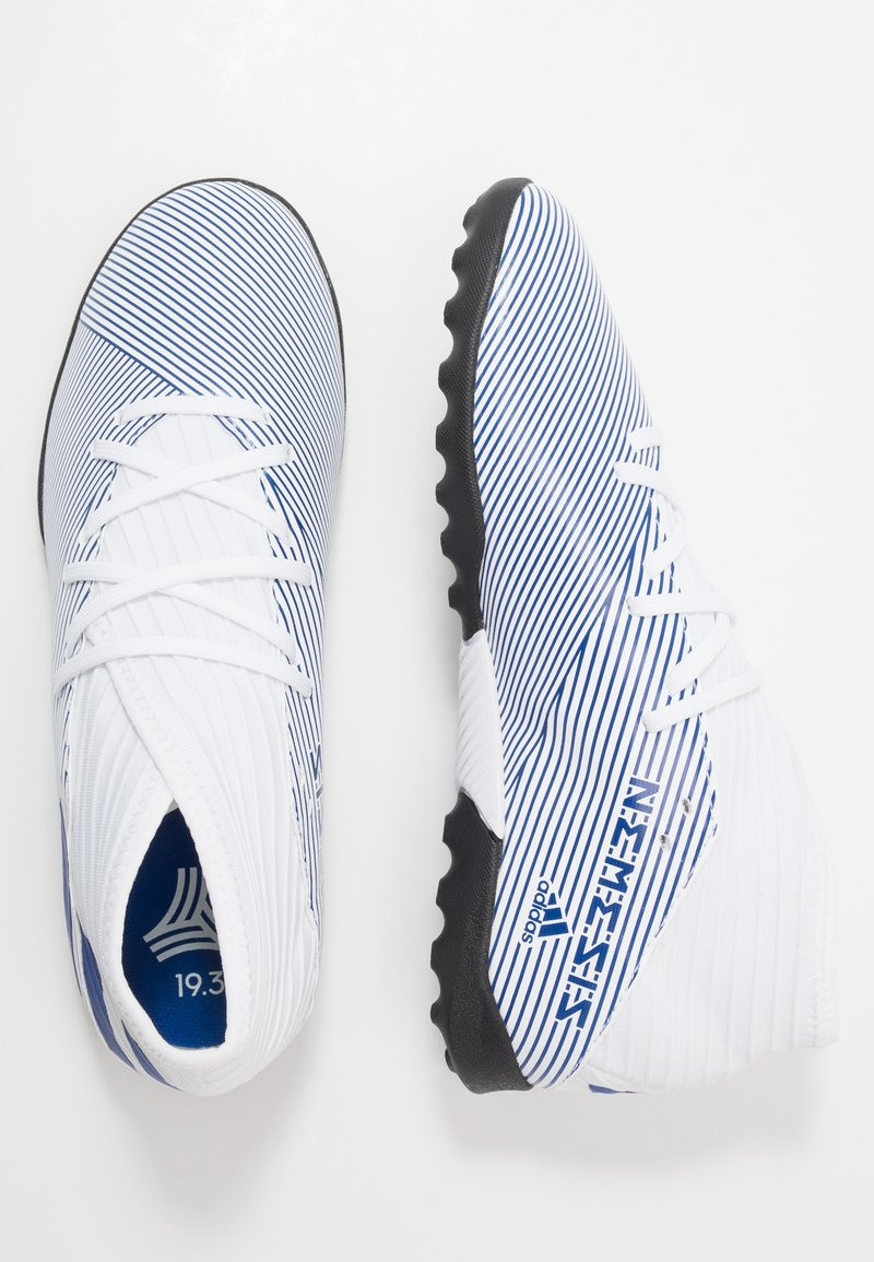 adidas Performance - NEMEZIZ 19.3 TF J - Korki Turfy - footwear white/royal blue