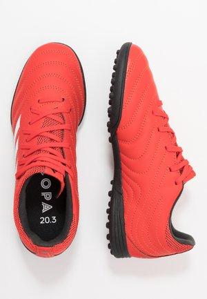 COPA 20.3 TF - Korki Turfy - active red/footwear white/core black