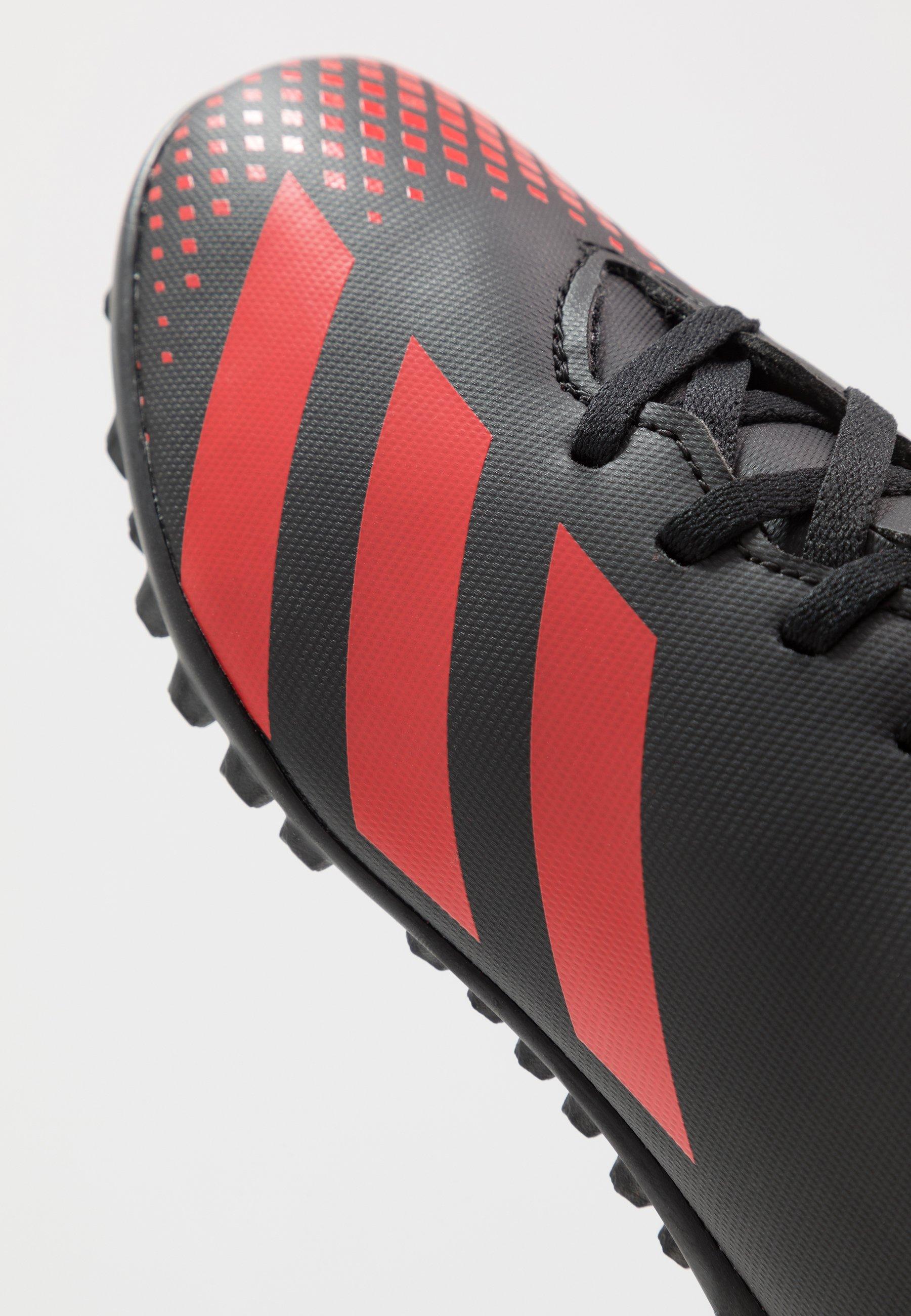 adidas Performance PREDATOR 20.4 TF - Korki Turfy - core black/active red
