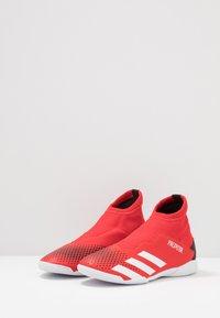 adidas Performance - PREDATOR 20.3 LL IN - Scarpe da calcetto - action red/footwear white/core black - 3
