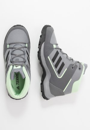 TERREX - Trekingové boty - grey three/core black/glow green