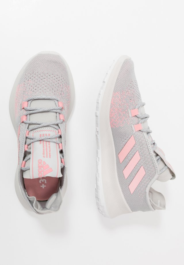 SENSEBOUNCE + ACE - Neutral running shoes - grey two/glow pink/footwear white