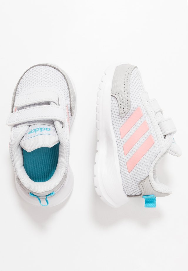 TENSAUR RUN - Obuwie do biegania treningowe - dash grey/glow pink/bright cyan
