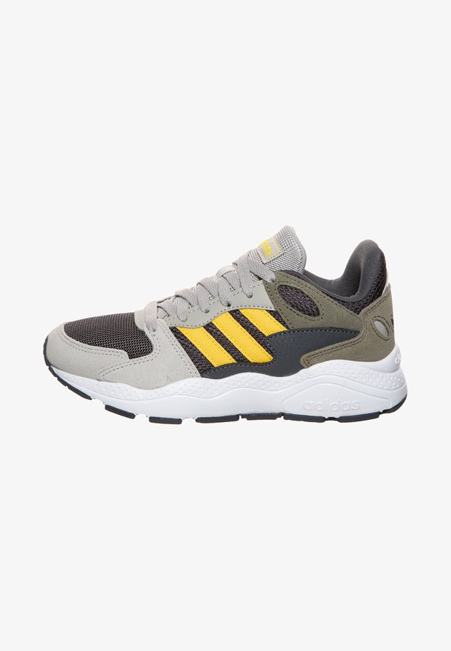 ADIDAS PERFORMANCE CRAZYCHAOS SNEAKER KINDER - Neutral running shoes - metallic grey/yellow/legacy green