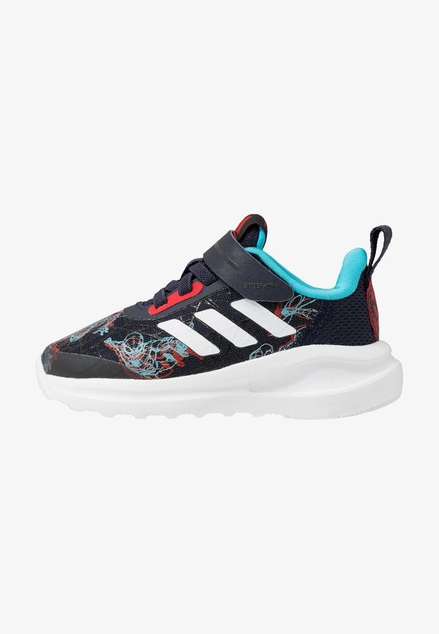 FORTARUN SPIDER - Scarpe running neutre - legend ink/vivid red/signal cyan