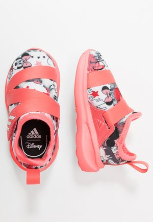 FORTARUN X MINNIE  - Chaussures de running neutres - footwear white/semi fluo red/coreblack