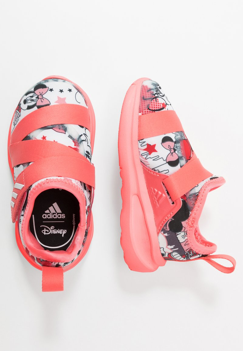 adidas Performance - FORTARUN X MINNIE  - Neutral running shoes - footwear white/semi fluo red/coreblack