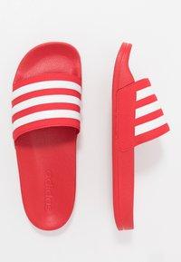 adidas Performance - ADILETTE SHOWER - Pool slides - scarle/footwear white - 0