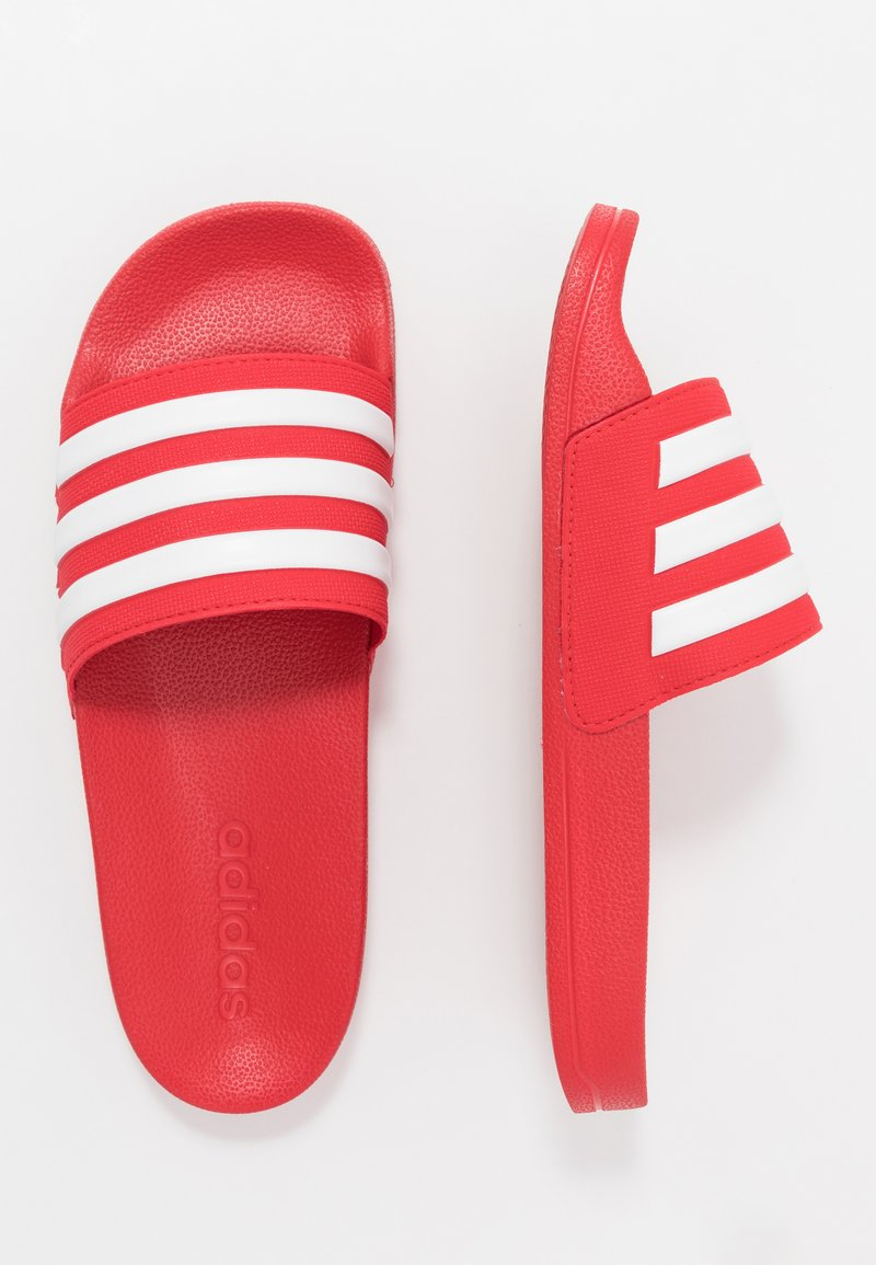 adidas Performance - ADILETTE SHOWER - Badesandale - scarle/footwear white
