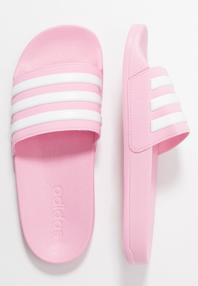ADILETTE SHOWER - Chanclas de baño - true pink/footwear white