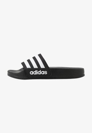 ADILETTE SHOWER - Pool slides - core black/footwear white
