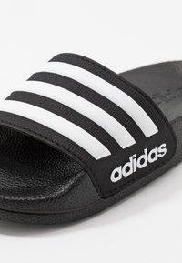 adidas Performance - ADILETTE SHOWER - Sandały kąpielowe - core black/footwear white - 5