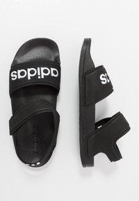 adidas Performance - ADILETTE - Chanclas de baño - core black/footwear white - 0