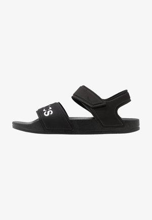 ADILETTE - Chanclas de baño - core black/footwear white