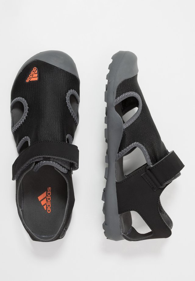 CAPTAIN TOEY - Walking sandals - core black/orange/grey five