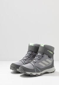 adidas Performance - TERREX SNOW CF WINTER HIKING SHOES - Botas para la nieve - grey three/grey two/glow green - 3