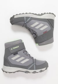 adidas Performance - TERREX SNOW CF WINTER HIKING SHOES - Botas para la nieve - grey three/grey two/glow green - 0