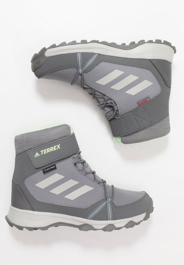 TERREX SNOW CF WINTER HIKING SHOES - Winter boots - grey three/grey two/glow green