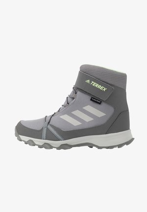 TERREX SNOW CF WINTER HIKING SHOES - Winter boots - grey three/grey two/glow green