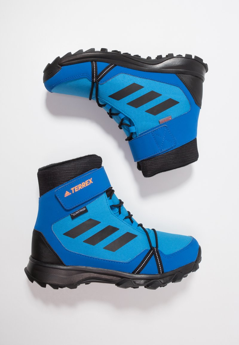 adidas Performance - TERREX SNOW CF WINTER HIKING SHOES - Śniegowce - bright blue/core black/hi-res orange