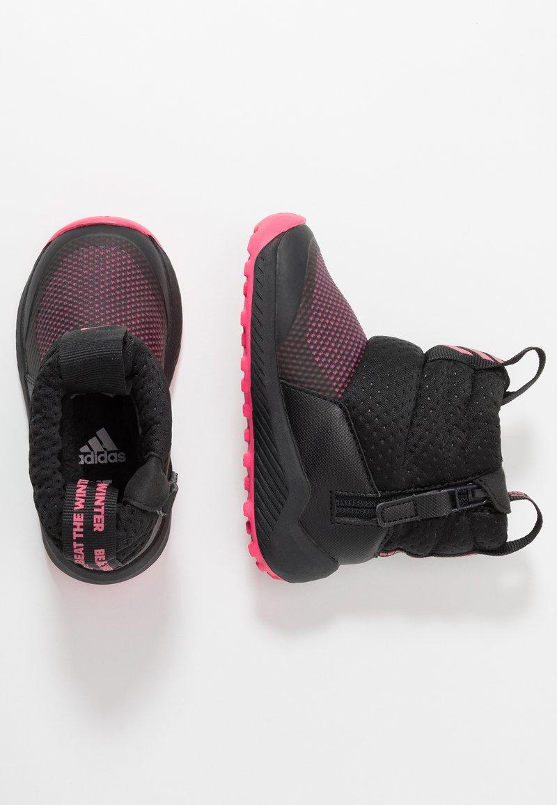 adidas Performance - RAPIDASNOW - Botas para la nieve - core black/real pink/footwear white
