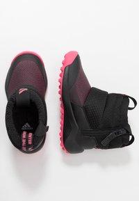 adidas Performance - RAPIDASNOW - Zimní obuv - core black/real pink/footwear white - 0