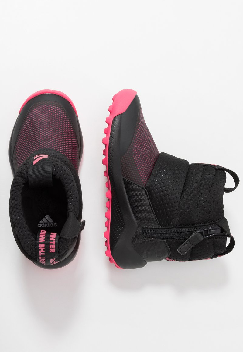 adidas Performance - RAPIDASNOW - Zimní obuv - core black/real pink/footwear white