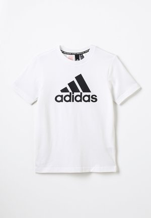 ESSENTIALS SPORTS SHORT SLEEVE TEE - T-shirt imprimé - white/black