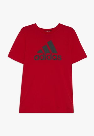 BOS  - T-shirt z nadrukiem - vivid red/black