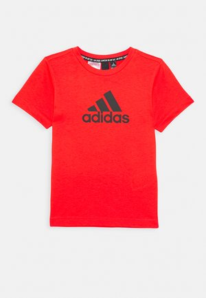 ESSENTIALS SPORTS SHORT SLEEVE TEE - T-shirt imprimé - red/black