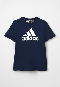 adidas Performance - ESSENTIALS SPORTS SHORT SLEEVE TEE - T-shirt print - conavy/white - 0