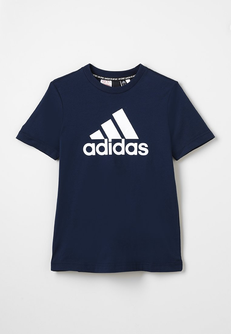adidas Performance - ESSENTIALS SPORTS SHORT SLEEVE TEE - T-shirt print - conavy/white