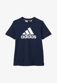 adidas Performance - ESSENTIALS SPORTS SHORT SLEEVE TEE - T-shirt print - conavy/white - 2