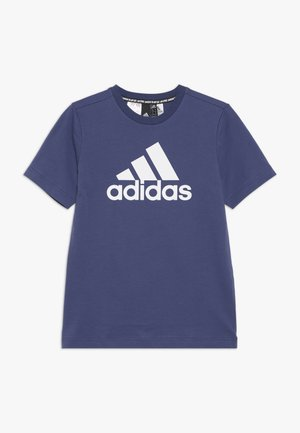 BOS  - T-shirt imprimé - dark blue/white