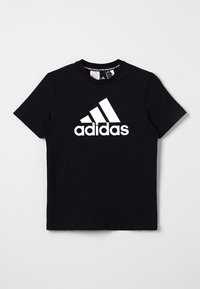adidas Performance - T-shirt con stampa - black/white - 0