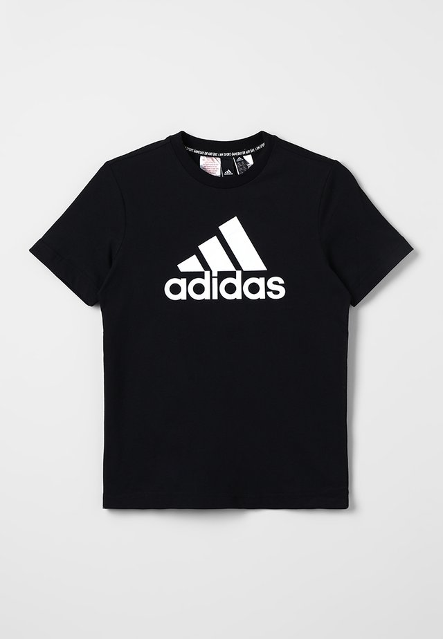 ESSENTIALS SPORT INSPIRED SHORT SLEEVE TEE - T-shirt print - black/white