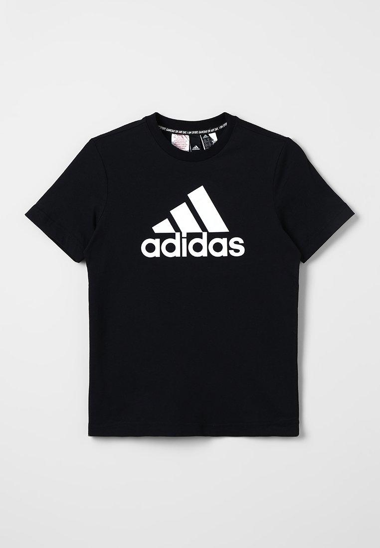adidas Performance - ESSENTIALS SPORT INSPIRED SHORT SLEEVE TEE - Print T-shirt - black/white