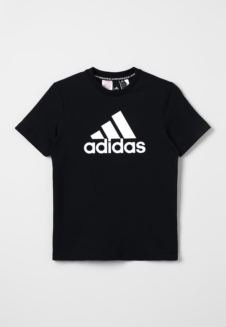 adidas Performance - T-Shirt print - black/white