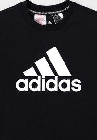 adidas Performance - ESSENTIALS SPORT INSPIRED SHORT SLEEVE TEE - Print T-shirt - black/white - 3
