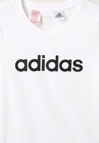 adidas Performance - T-shirt print - white/black
