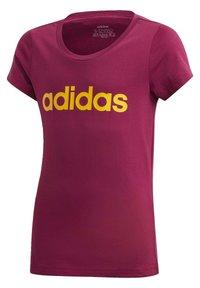 adidas Performance - T-shirt imprimé - power berry/active gold - 0