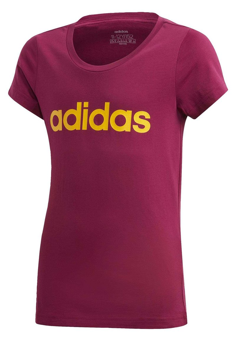 adidas Performance - T-shirt imprimé - power berry/active gold
