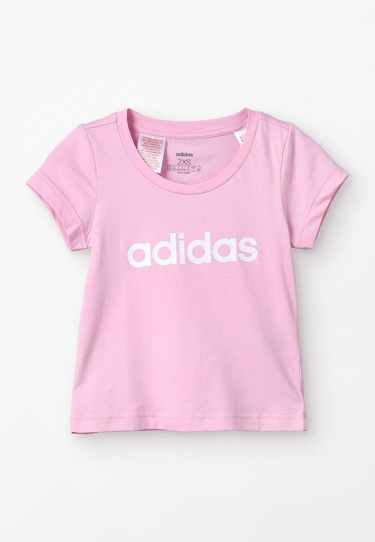 adidas Performance - LIN TEE - T-shirt print - true pink/white