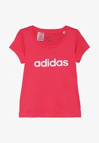adidas Performance - T-shirt con stampa - pink/white - 2
