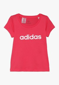 adidas Performance - T-shirt con stampa - pink/white - 0
