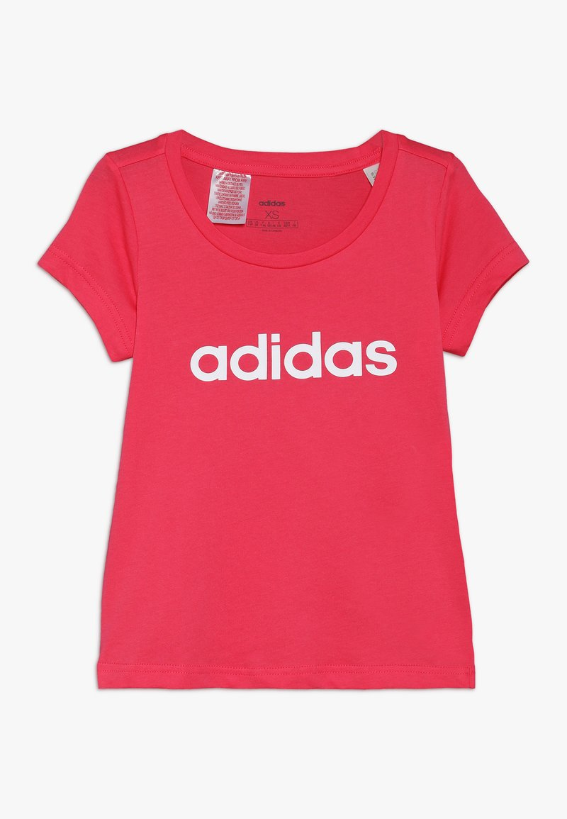 adidas Performance - T-shirt con stampa - pink/white